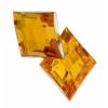 Acrylic 26x20mm Diamond Facet Marigold